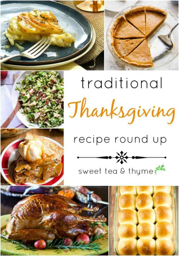 A traditional thanksgiving recipe round up with not only the classics, but vegan and gluten-free options as well!