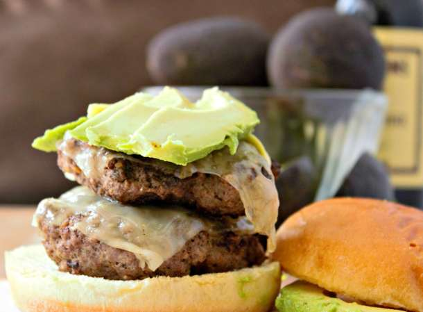 Steamed Burgers with Avocado and Swiss