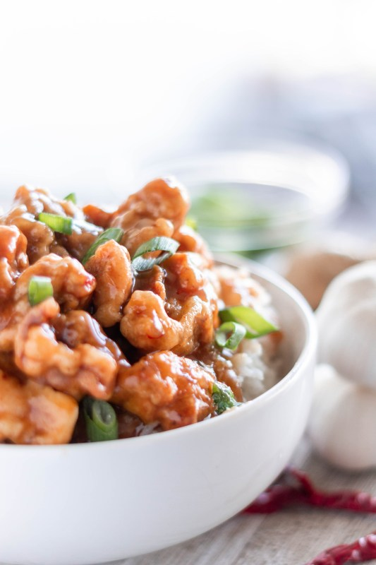 General Tso Chicken is easy and delicious with an incredibly flavorful sauce glazed over crispy chicken thighs. Throw out the takeout menu, you won't need it for dinner tonight!