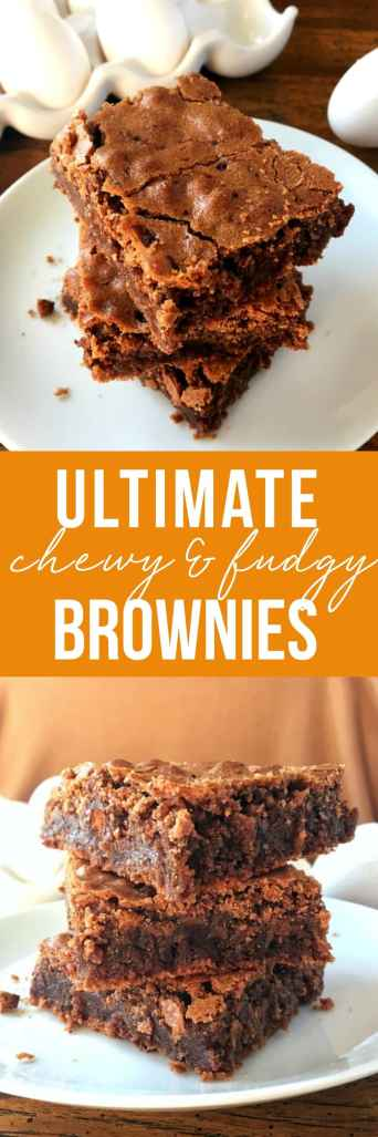 Chewy, fudgy, thick brownies made in one bowl! These come together easily with simple ingredients that give that amazing crispy, crackly crust. Homemade has never been easier.