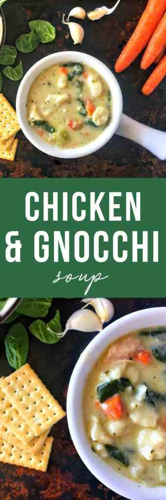 Homemade Olive Garden copycat chicken and gnocchi soup with a rich and creamy broth, comforting chicken and veggies, and supple potato gnocchi will be your new dinner fave!