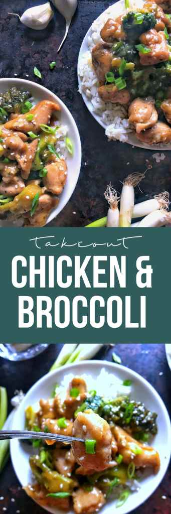 Chicken and broccoli takeout made simply and easily (and quickly!) at home! Chicken thighs and broccoli coated in a sweet-savory sauce in under 20 minutes.