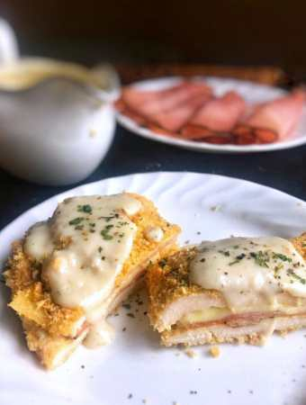 Chicken Cordon Bleu is made a weeknight masterpiece that is quick and easy with little clean up and served with an amazing cream sauce.