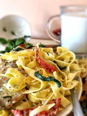 Creamy One-Pot Tuscan Chicken Pasta