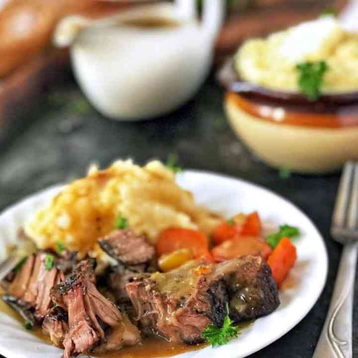 Tender Oven Braised Pot Roast