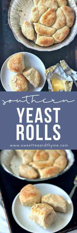 These yeast rolls are just as buttery, soft, and delicious as the pans of rolls you buy at the store. Even has the nostalgic smell as they bake. Every southerner will want this recipe!