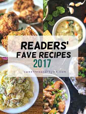Your 2017 Sweet Tea and Thyme Recipe Faves!