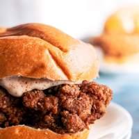 Crispy Chicken Sandwich (Popeyes' Copycat)