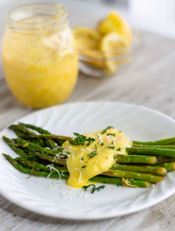 This sauteed asparagus recipe is super flavorful with lemon and garlic and simple to make with only a few ingredients!