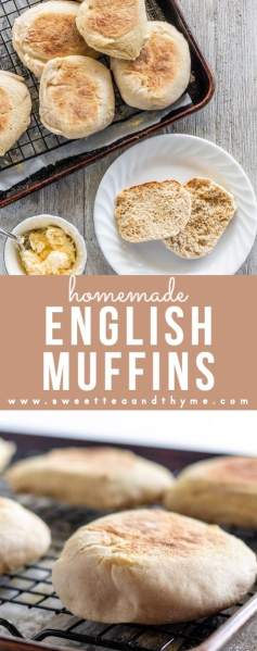These English Muffins are easy to prepare, and taste better than store bought, thanks to some easy, simple steps. They got those nooks and crannies you're looking for, and are fantastic for a breakfast sandwich or a mini pizza fix. They freeze wonderfully, so I love stocking up!