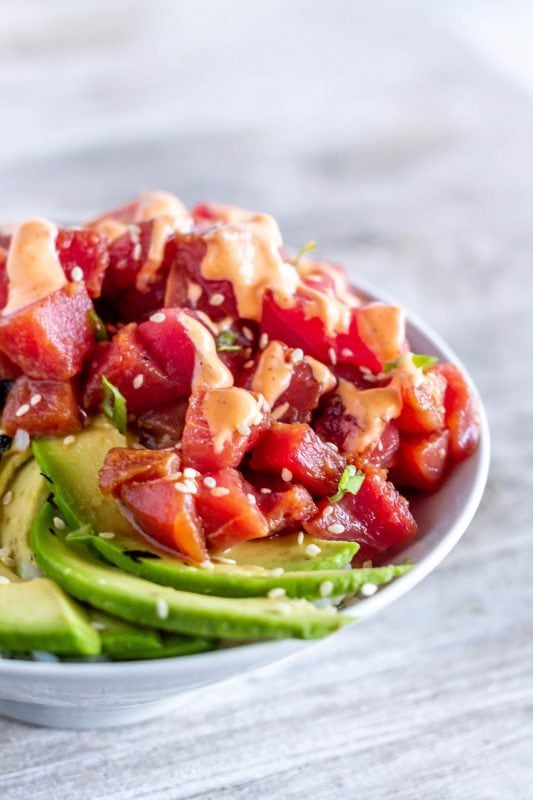 Ahi Tuna Poke Bowl (Fast and Easy!)