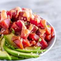 Poke Bowls with Spicy Tuna