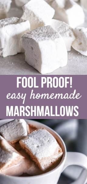 If you've never made homemade marshmallows, you'll be surprised at how easy and delicious they are to make! This recipe is foolproof! Perfect for s'mores, hot chocolate, or gifts for the holidays!