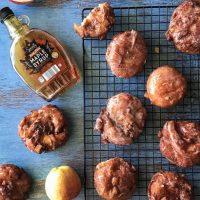 Apple Fritter Donuts with Maple Glaze