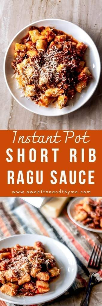 The most delicious Italian ragu made with well-marbled short rib, cooked to tender perfection in just under an hour using the Instant Pot!