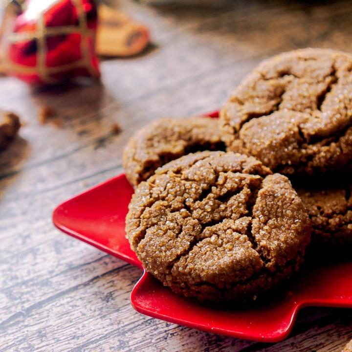Crispy, Snappy Gingersnap Cookies