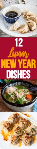 For Lunar New Year, this list of 12 Asian dishes are fantastic for your dinner table. Dumplings, noodles, dim sum, hot pot, and more for you to try this year!