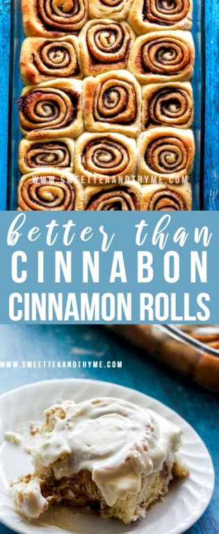 These cinnamon rolls are pillowy soft, ooey-gooey, and honestlybetter than Cinnabon cinnamon rolls! Topped with a rich and creamy cream cheese frosting, my Cinnabon copycats beat the mall version every time!