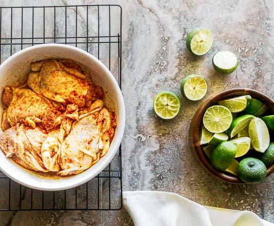 ingredients for arroz con pollo marinade