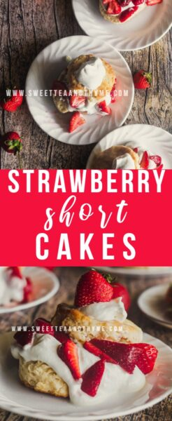 Strawberry Shortcakes are a classic dessert. They're light, delicious, and perfect for spring and summer with juicy, sweet strawberries and easy chantilly cream between slightly sweetened biscuits.