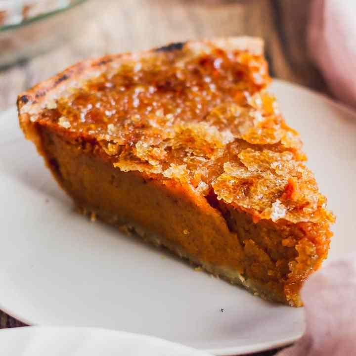 Brulee Bourbon Sweet Potato Pie