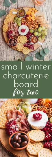 This simple charcuterie board for two is perfect for a winter date night appetizer or an easy snacking platter. Don't worry if you're a beginner, I've got all the tips and tricks to making a delicious and impressive cheese board!