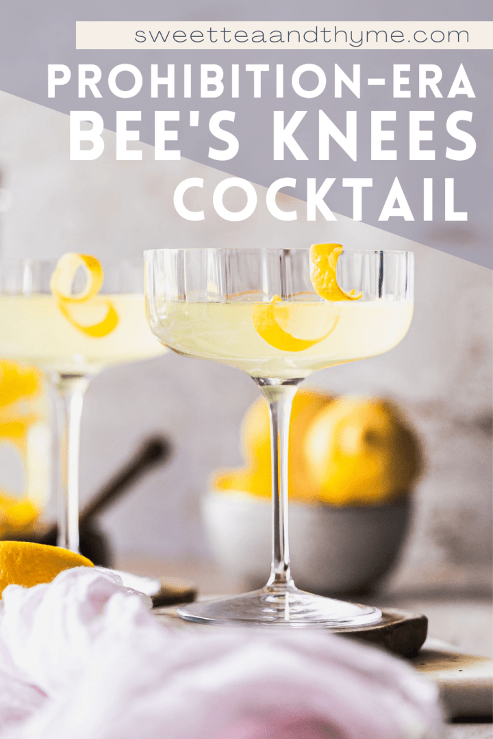 pinterest pin for bees knees cocktail