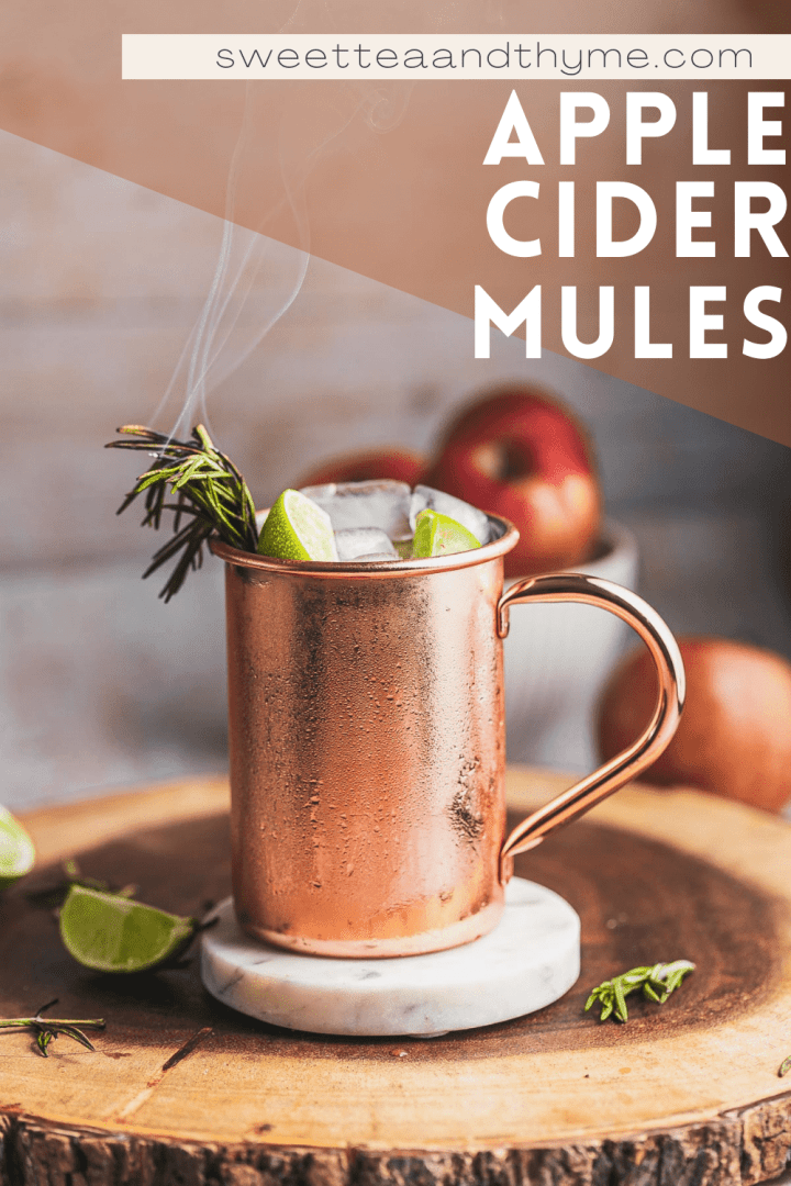 pinterest pin for apple cider moscow mules
