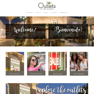 Outlets at the Border, Home Page