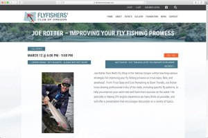 FlyFishers' Club of Oregon Calendar/Event page for dinner event