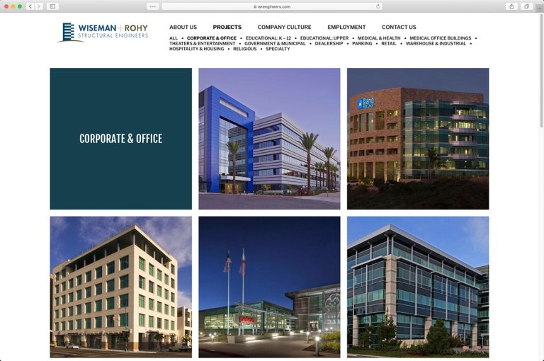 Wiseman + Rohy Structural Engineers Project Category Page