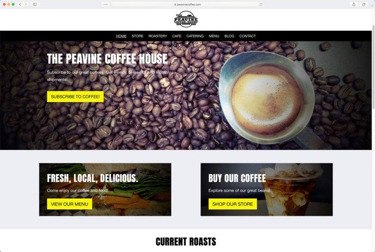 The Peavine Coffee Shop Home Page