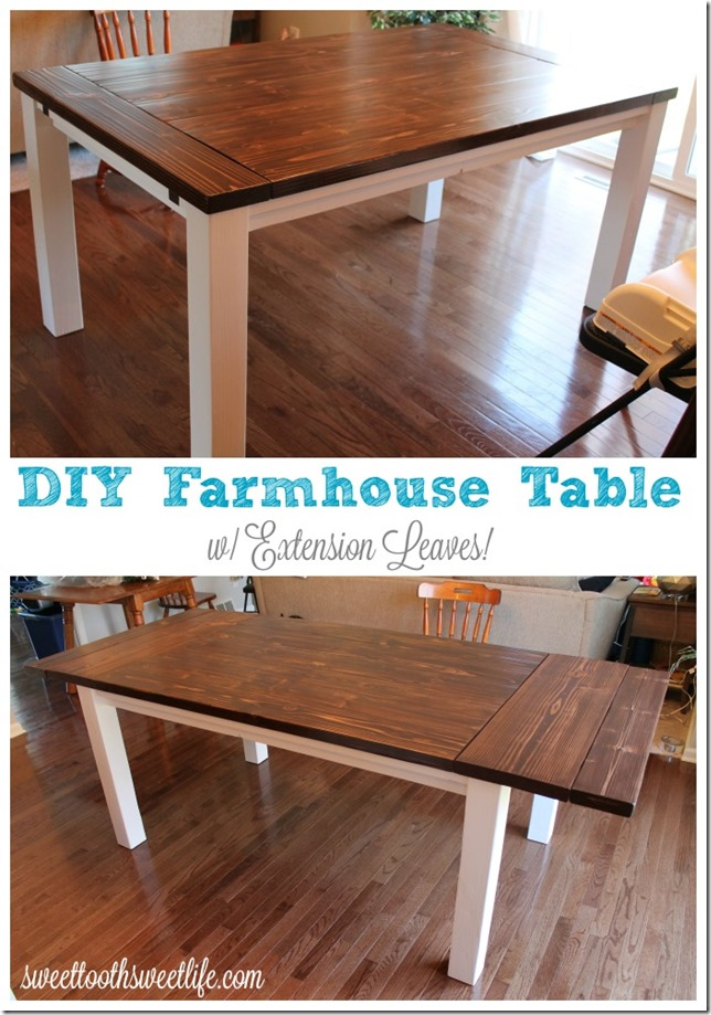 Farm extension dining table. dining room tables with extensions ...
