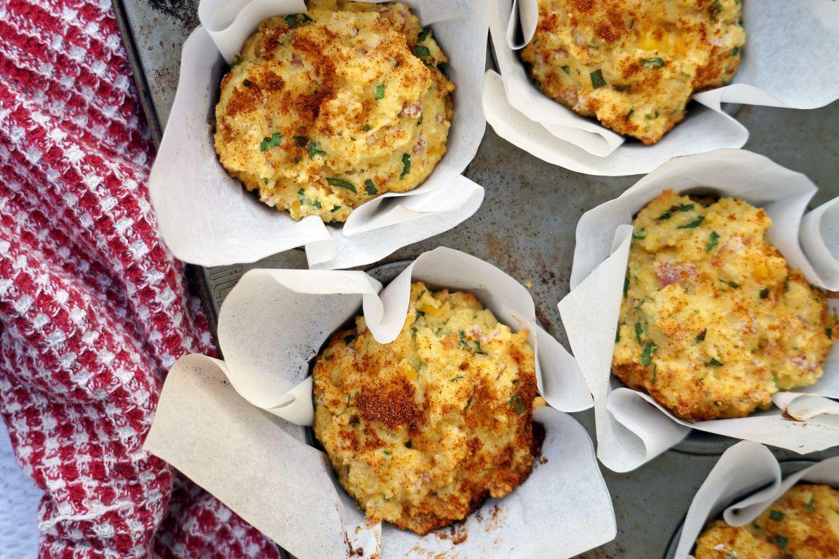 Ham, Corn and Polenta Muffins {gluten-free + dairy-free}