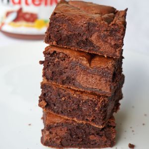 Nutella Swirl Brownies