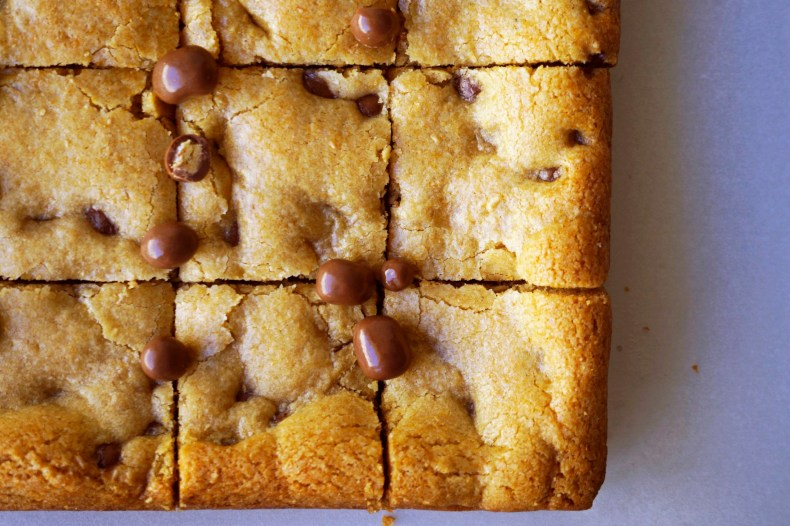 FruChocs Cookie Bars {gluten-free option}