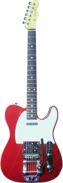 Red Telecaster with Bigsby
