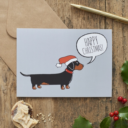 Dachshund Christmas Card 275 Mischievous Mutts