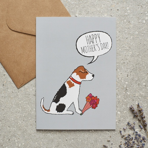 Jack Russell Mothers Day Card 275 Mischievous Mutts