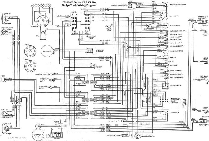1970 dodge truck wiring diagram  description wiring