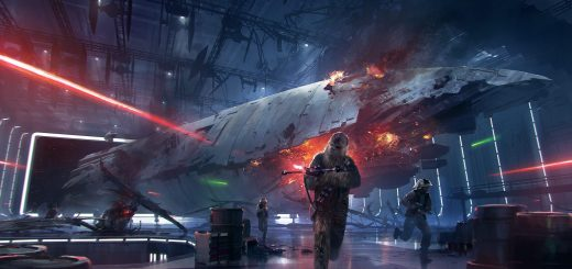 Chewbacca featured in concept art for the Death Star DLC.