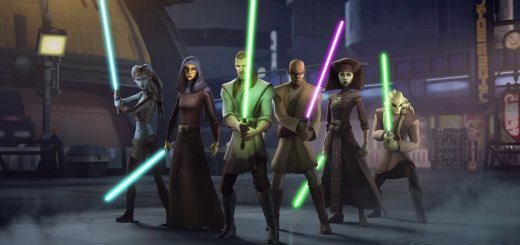 Jedi knights in Star Wars Galaxy of Heroes.