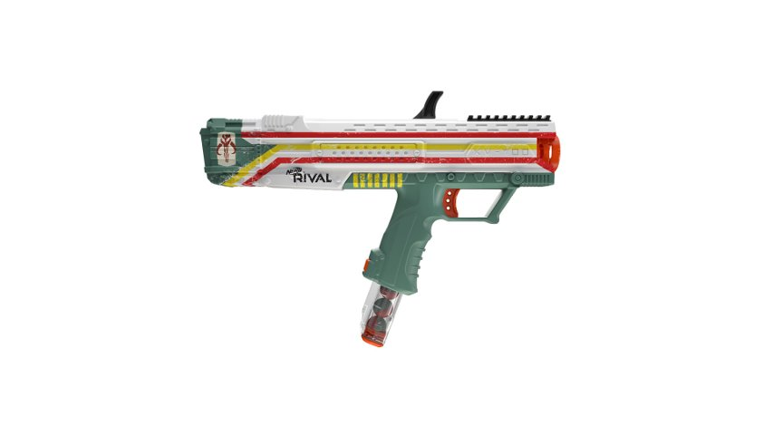 The Mandalorian-themed blaster available at GameStop.
