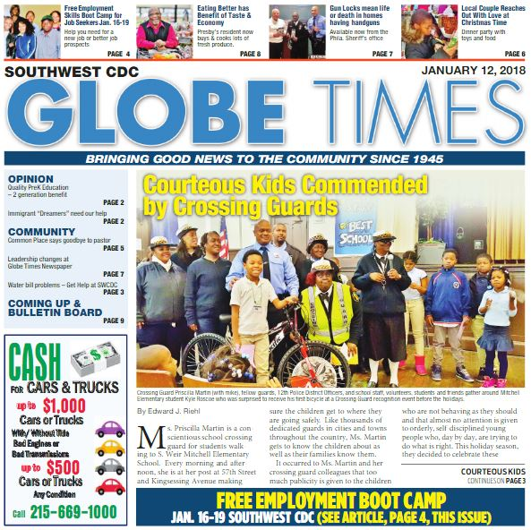 Globe Times Courteous Kids Commended by Crossing Guards