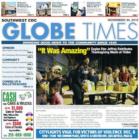 Globe Times November 30, 2018 issue