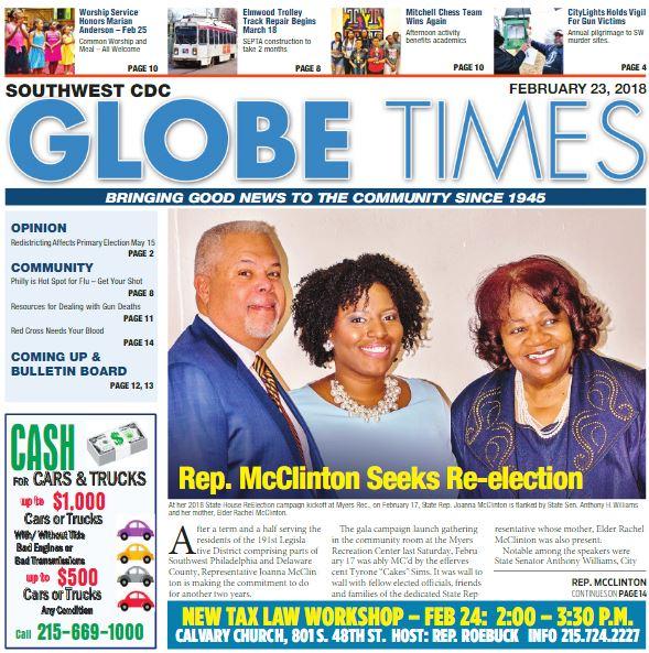 Globe Times February 23, 2018 issue
