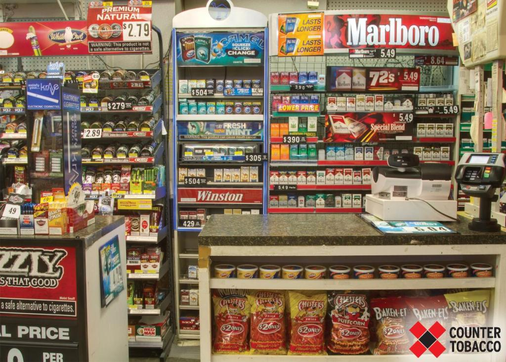 Colorful displays such as this can be alluring to young people, but selling tobacco products to minors is illegal in Philadelphia – don't do it!