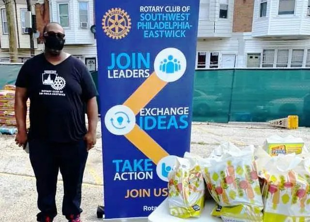 Jonathan Fullenwellen, President of the Rotary Club of Southwest Philadelphia-Eastwick