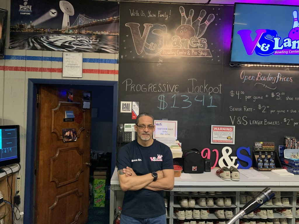 Steve Fred Sr., co-owner of V&S Lanes