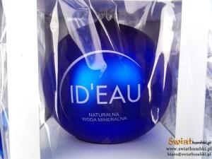 balls with logo ID'EAU, blue